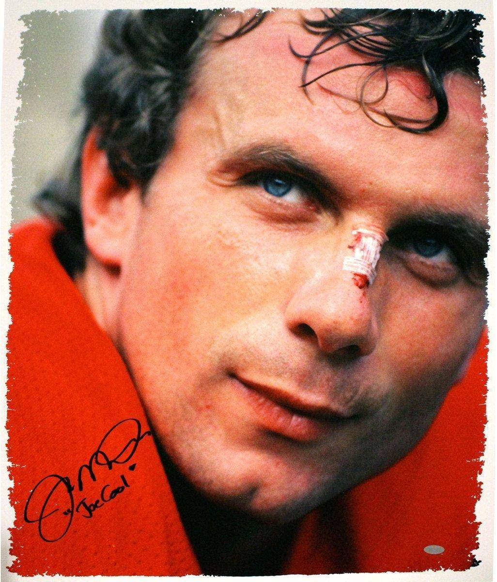 Joe Montana Signed Close Up 22x26 Canvas w/