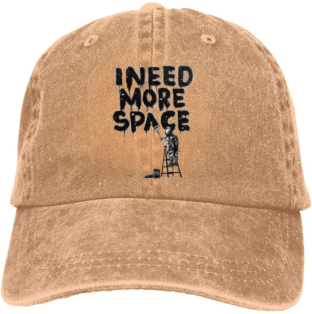 IASIFD I Need My Space Logo Unisex Flex-fit Hat Hip Hop Baseball Cap Sun Hat Outdoor Cap Natural