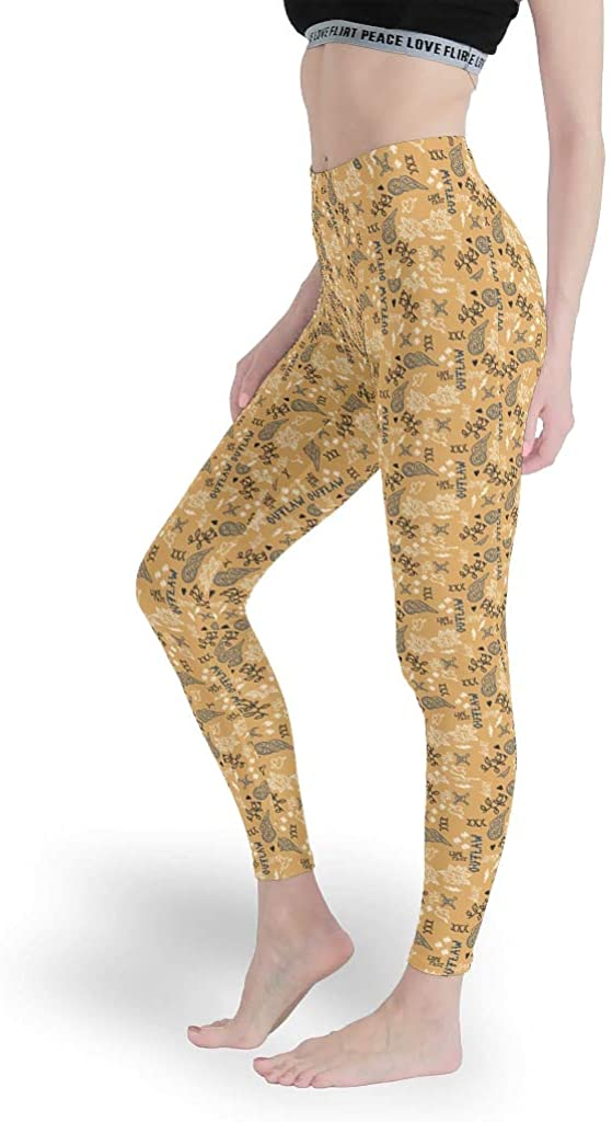 cnejduwud Plant Flowers TextWomen Summer Leggings Full-Length Yoga Pants Running Capris Tights for GymPlant
