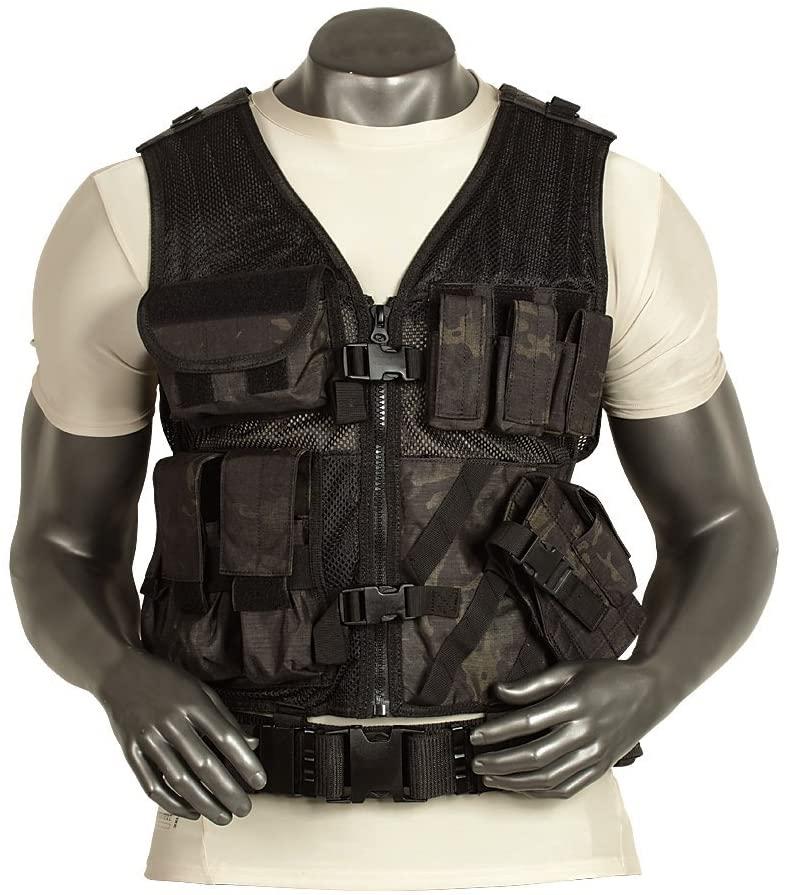 VooDoo Tactical 20-8112105335 Men's Msp-06 Entry Assault Vest, Medium/X-Large, VTC