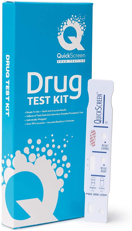 QuickScreen Single Panel Amphetamine Drug Test, 10
