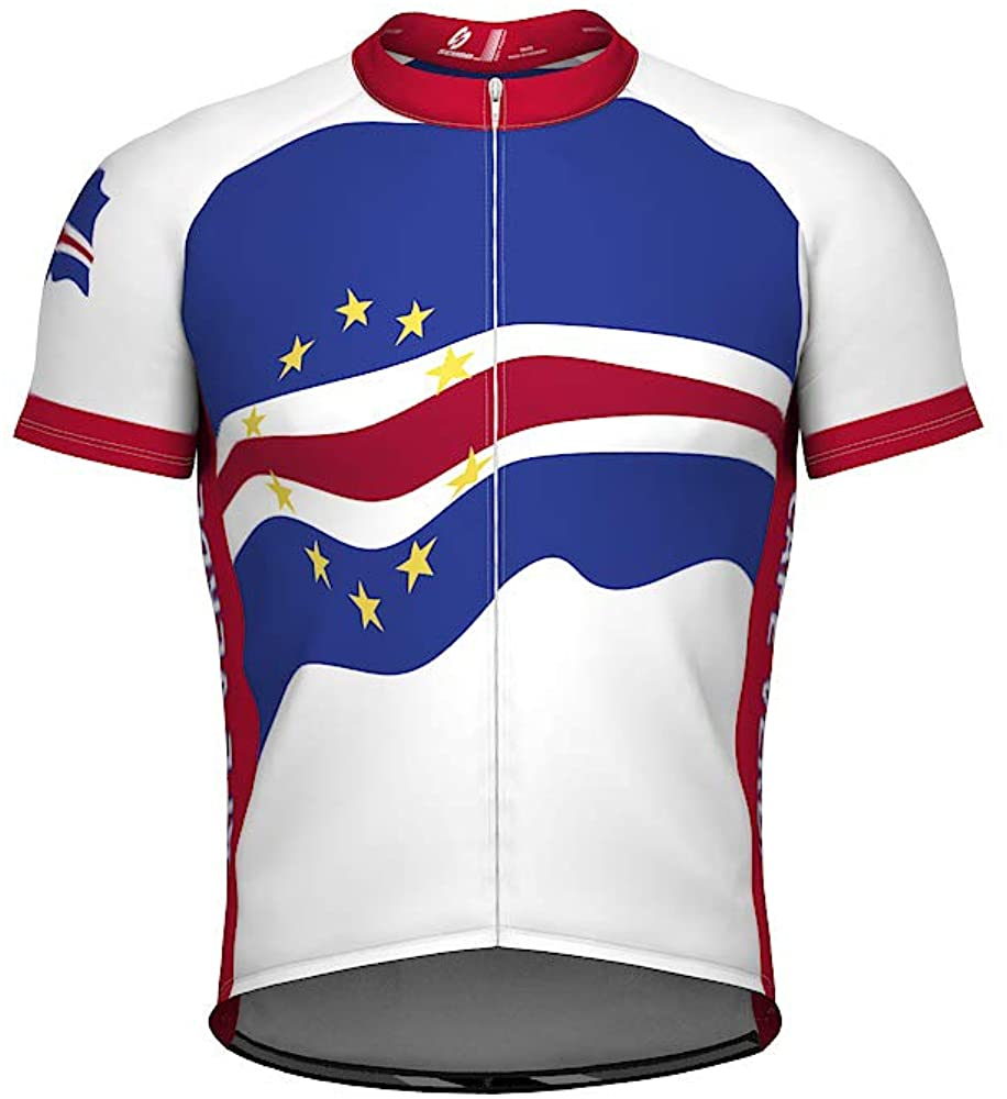 ScudoPro Cape Verde Emblem Full Zipper Bike Short Sleeve Cycling Jersey for Women