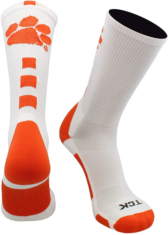 TCK Clemson Tigers Socks Baseline Crew
