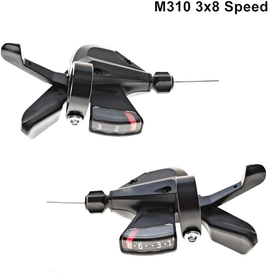 Bike Gear Shifter, Bicycle Brake Shift Lever SL, Thumb Shifter Split Shifter, Bicycle Brake Levers, M310 Rapid Fire Shifter 3x8 Speed Mountain Bike Accessories