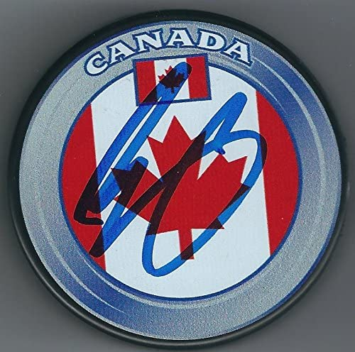 Evander Kane Autographed Puck - Team Canada - Autographed NHL Pucks