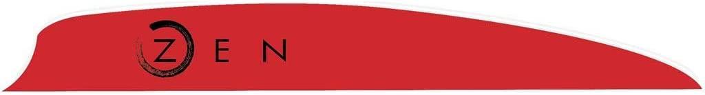 Bohning Zen Vanes Red 4 in. 100 pk.