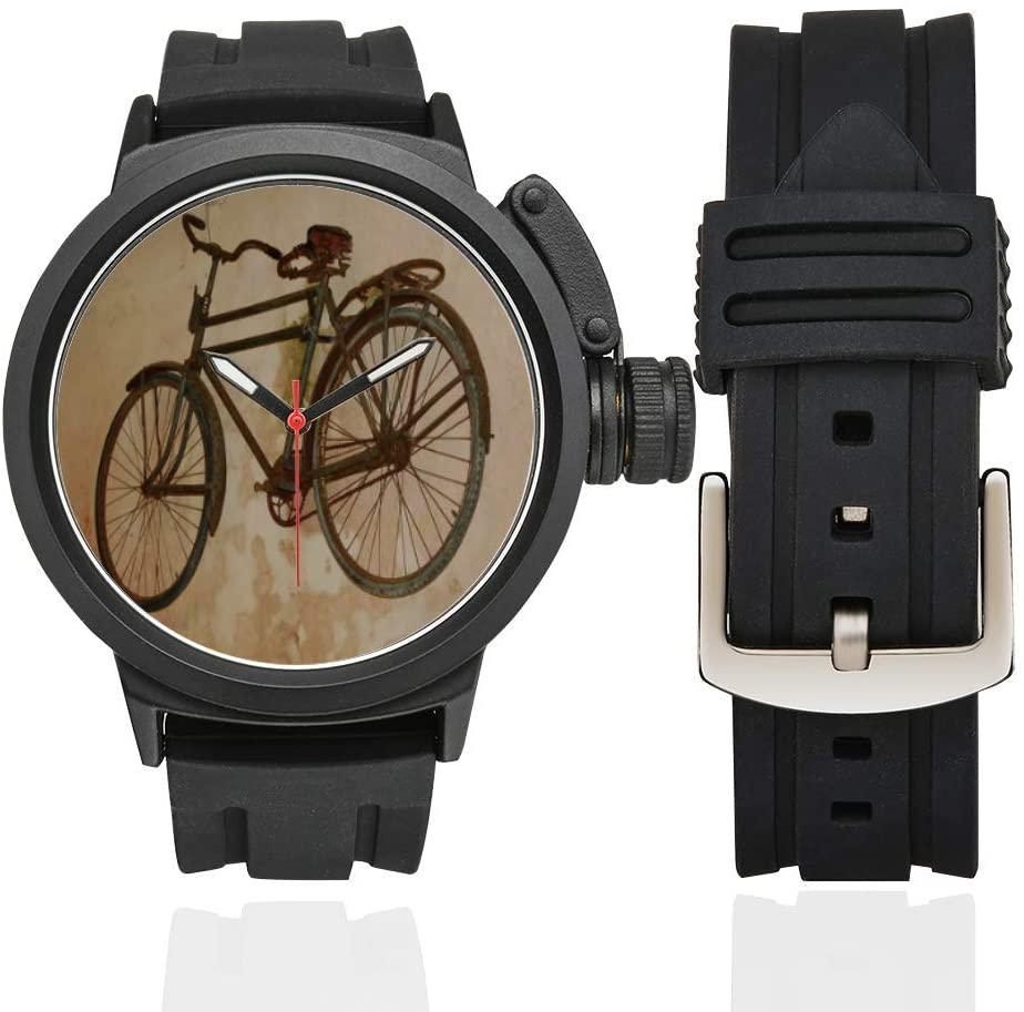 QUICKMUGS2U Fashion Bike Vintage Style Men's Sports Analog Quartz Watch Large Face Wrist Business Casual Watch for Men