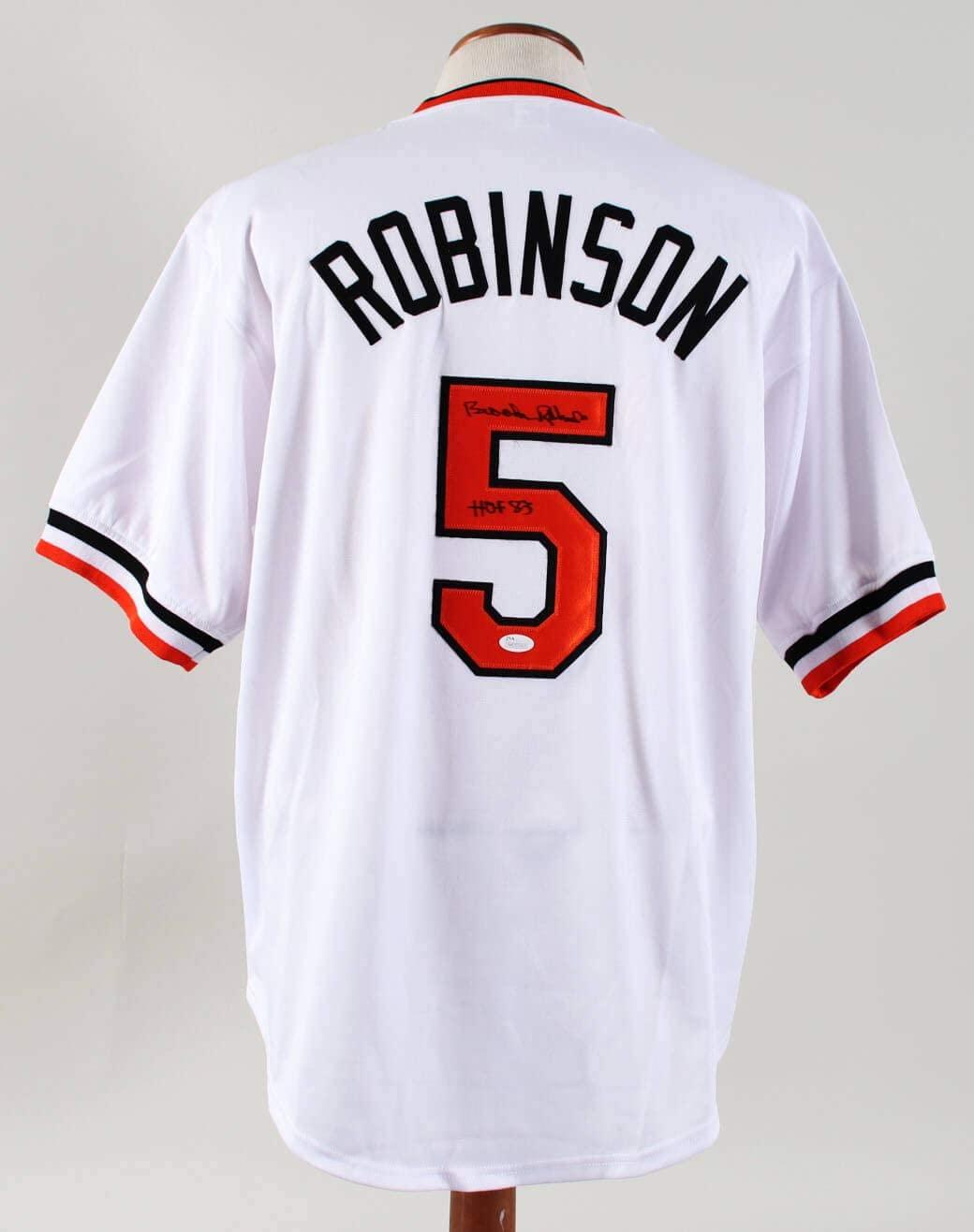Brooks Robinson Signed Jersey Orioles – COA JSA