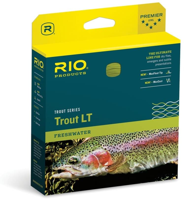 RIO Fly Fishing Fly Line Trout Lt Dt4F Fishing Line, Sage
