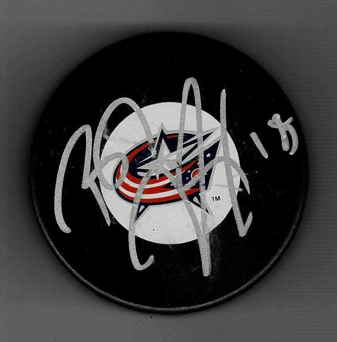 R.J. Umberger Autographed Puck - R. J. - Autographed NHL Pucks