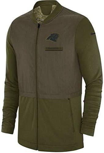 Nike Carolina Panthers Elite Hybrid Full-Zip Salute to Service Jacket (Medium)