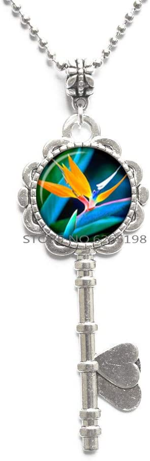 Bird Key Necklace.Animal Key Necklace.Dainty Key Necklace,Bird Gifts, Bird Prints, Bird Lover Gift,Dainty Key Necklace,N199