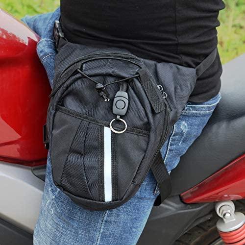 MR.CHAROS Waterproof Nylon Waist Bag Multi-Functional Pockets Men Black Drop Motorcycle Leg Bag Outdoor Motorcycle Bag