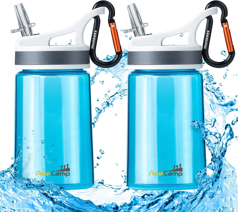 AceCamp 2 Pack-Kids Water Bottle,Eastman Tritan Kid Water Bottle BPA Free Sports Water Bottle 12 Oz Portable Leakproof