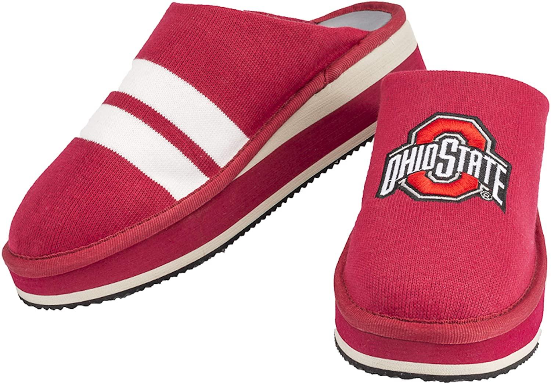 Zenzee NCAA College Spirit Wear Slip-On Mule Style Knit Platform Shoes for Women by Designer, Ohio State University Spirit Wear