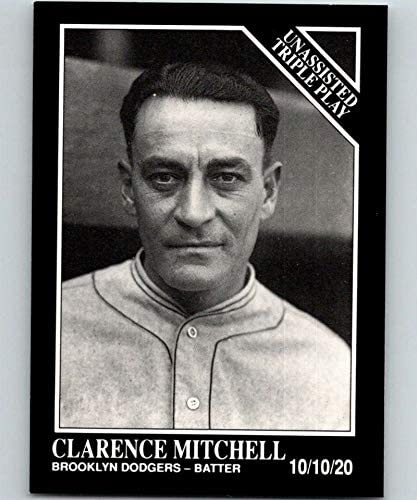 1991 Conlon Collection WITH MLB Logo Series One Baseball #202 Clarence Mitchell Brooklyn Dodgers TP Official MLB Trading Card From The Sporting News