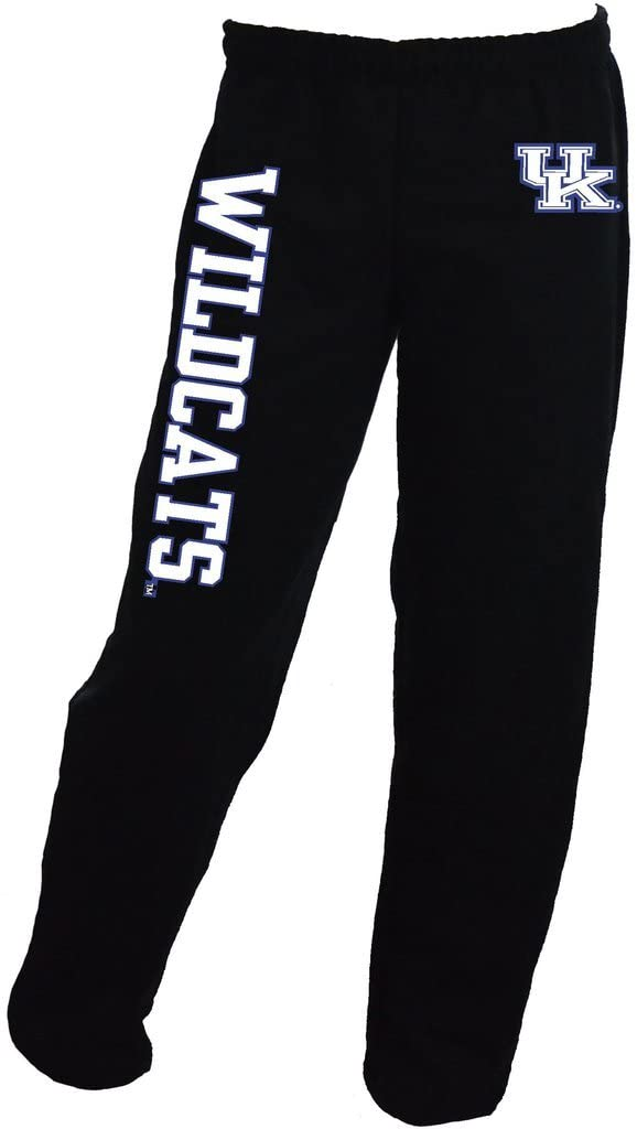 SHIRT WAREHOUSE UK Interlock Logo with Wildcats on Black Sweatpants