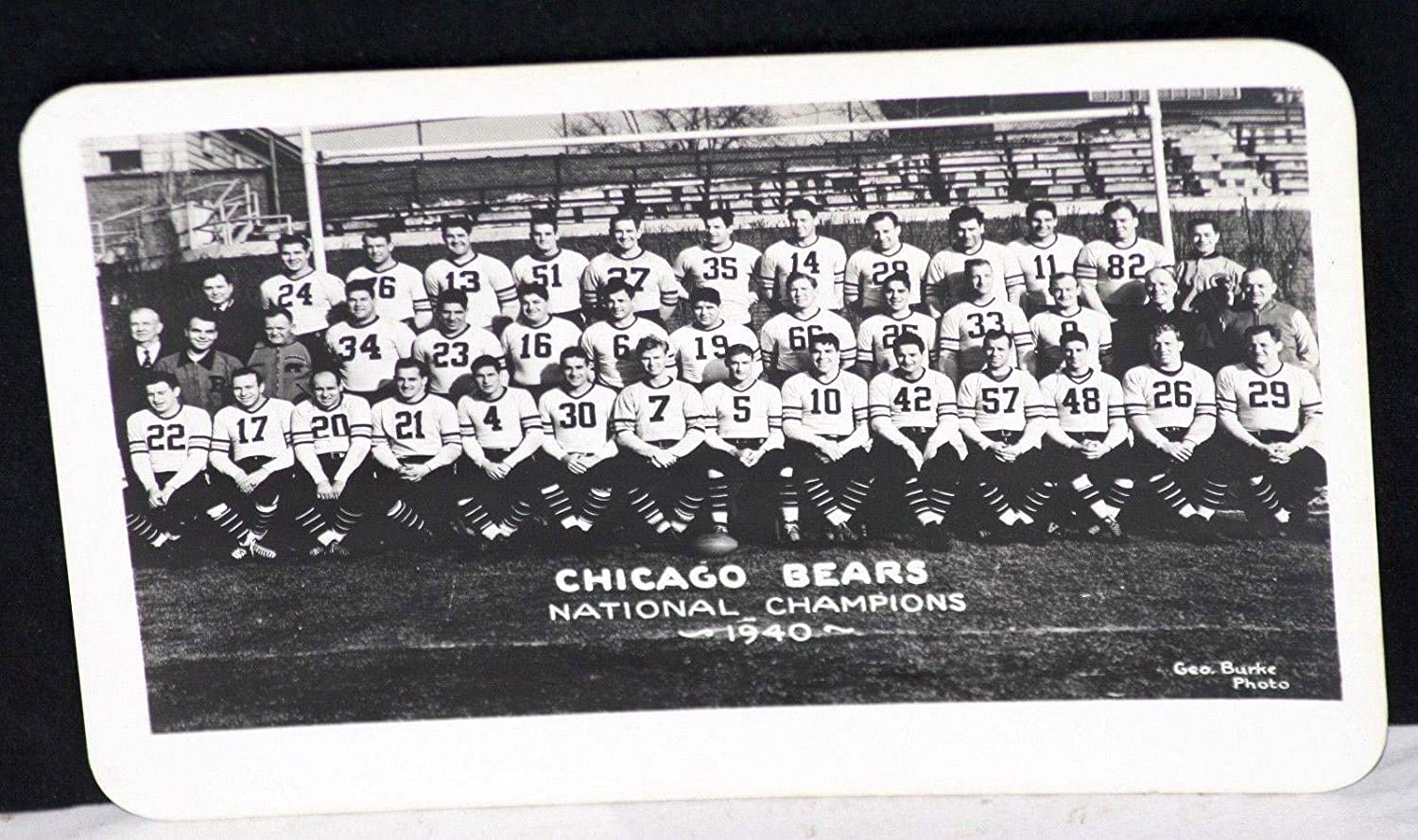 1940 Chicago Bears National Champions Team Photo, Original George Burke Studios - NFL Unsigned Miscellaneous