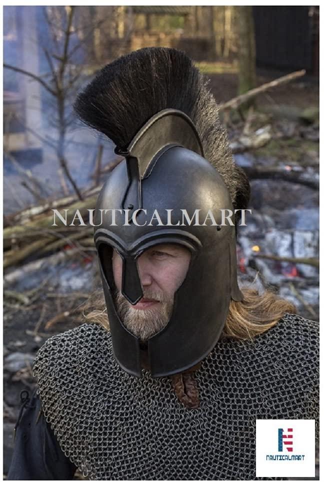 NAUTICALMART Troy Achilles Greek Helmet Epic Dark Halloween