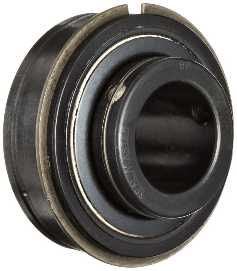 Sealmaster ERX-20R HIY Wide Inner Ring Ball Bearing, High Temperature, Expansion Type, Setscrew Locking Collar, Light Contact Nomex Felt Seals, Krytox GPL227 High Temperature Grease Lubrication, 1-1/4