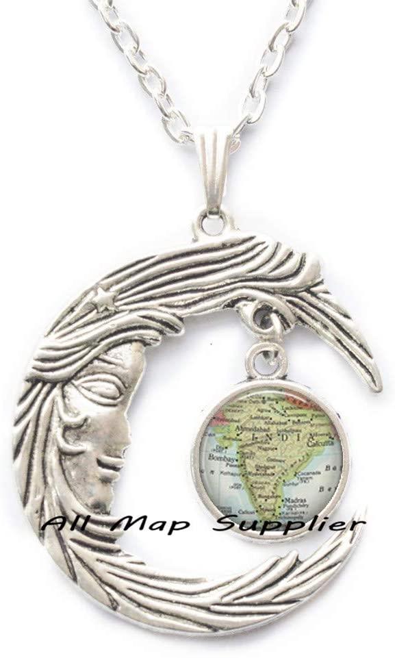 AllMapsupplier Fashion Necklace,India map Pendant,India map Necklace map Jewellery,map Jewelry,Resin Jewelry,India Necklace,India Pendant,A0275