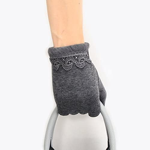 OLQMY-Winter and Autumn mustGloves, Ladies, Autumn And Winter Warm, Korean Gloves, Cute, Fluffy, Thicker, Windproof, Students Riding A Car, Cotton Touch Screen, Gloves,D