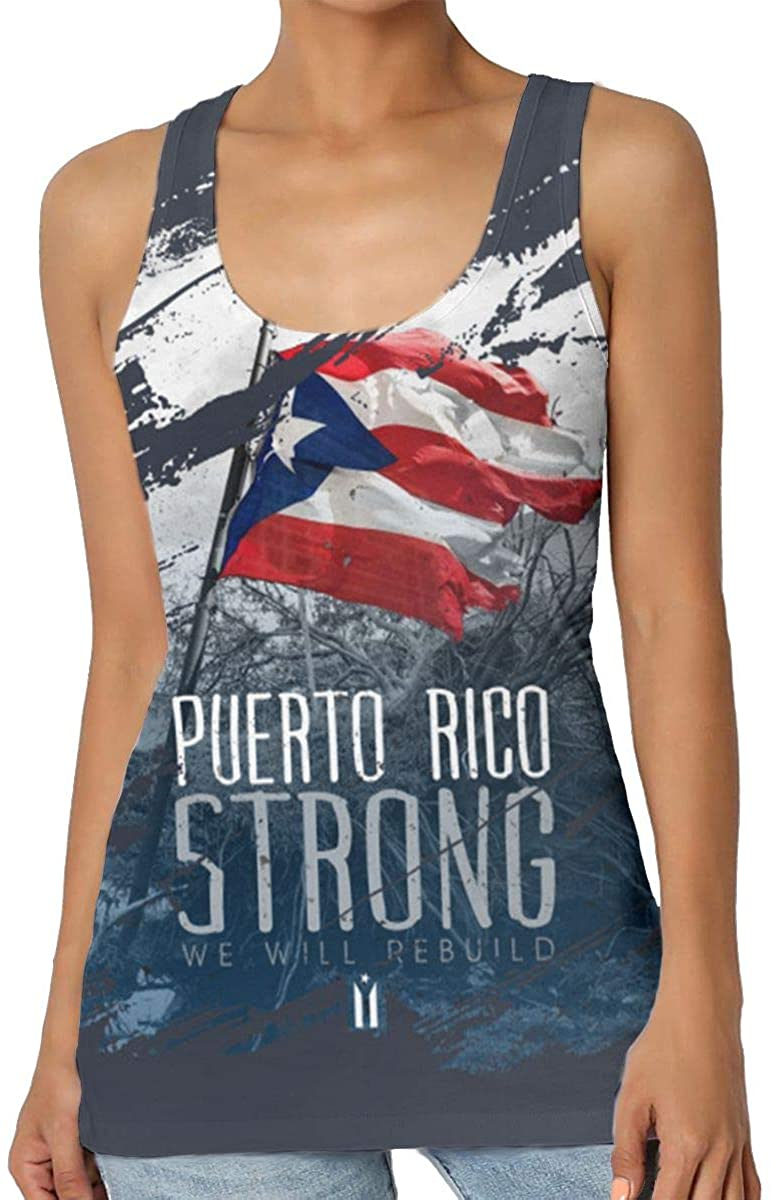 Puerto Rico Strong Women's Tank Top T-Shirt 3D Printed Sleeveless Vest