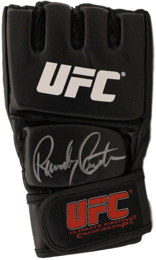 Randy Couture Autographed UFC Black Right Handed Glove BAS