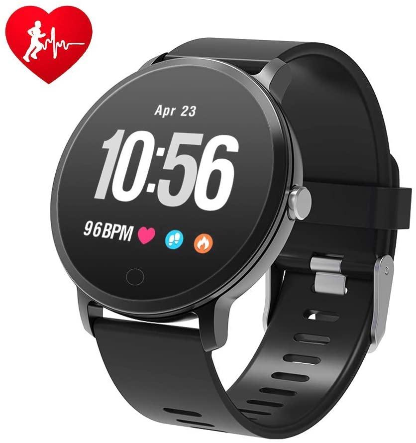 Bluetooth Smart Watch, Fitness Watch IP68 Waterproof Smart Watch with Heart Rate Monitor, Sleep Monitor, Activity Tracker Pedometer