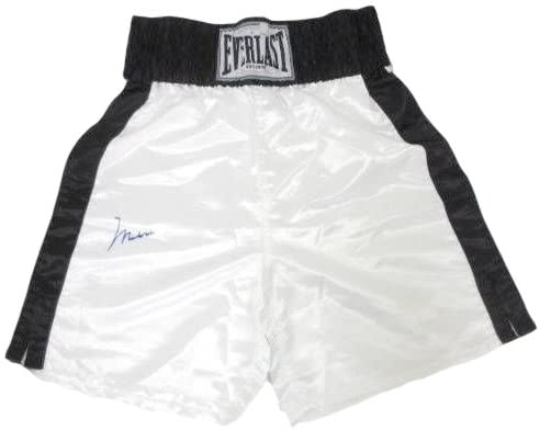 Muhammad Ali Signed White Everlast Boxing Trunks ALI Holograms+COA