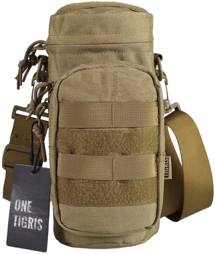 OneTigris Sniper Bottle Pouch 1000D Nylon Tactical EDC Water Bottle Carrier with Detachable Shoulder Strap