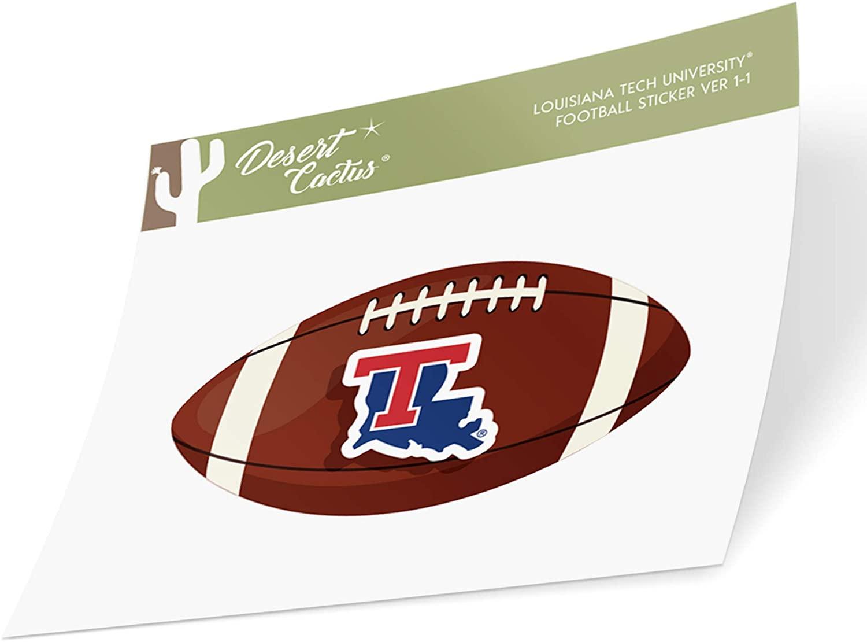 Louisiana LA Tech University Bulldogs NCAA Vinyl Decal Laptop Water Bottle Car Scrapbook (Football Logo Sticker)