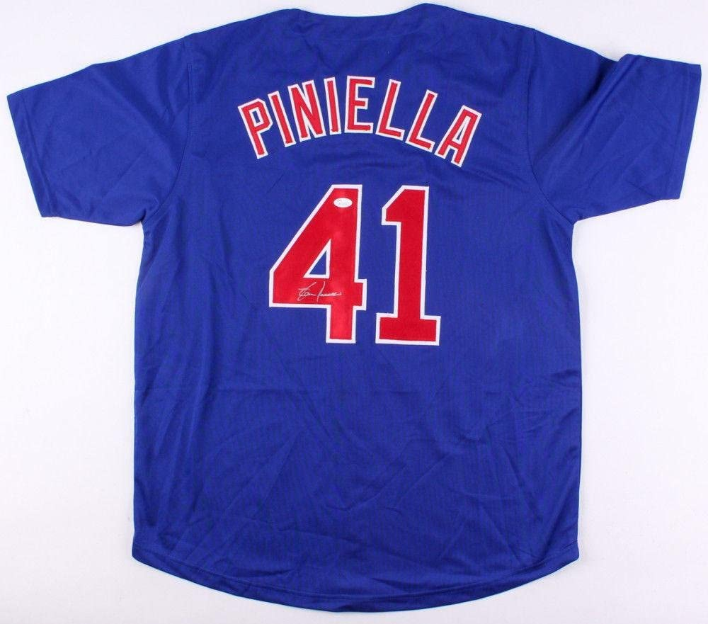 Lou Piniella Autographed Jersey - Custom chicago Cubs) - Coa! - JSA Certified - Autographed MLB Jerseys