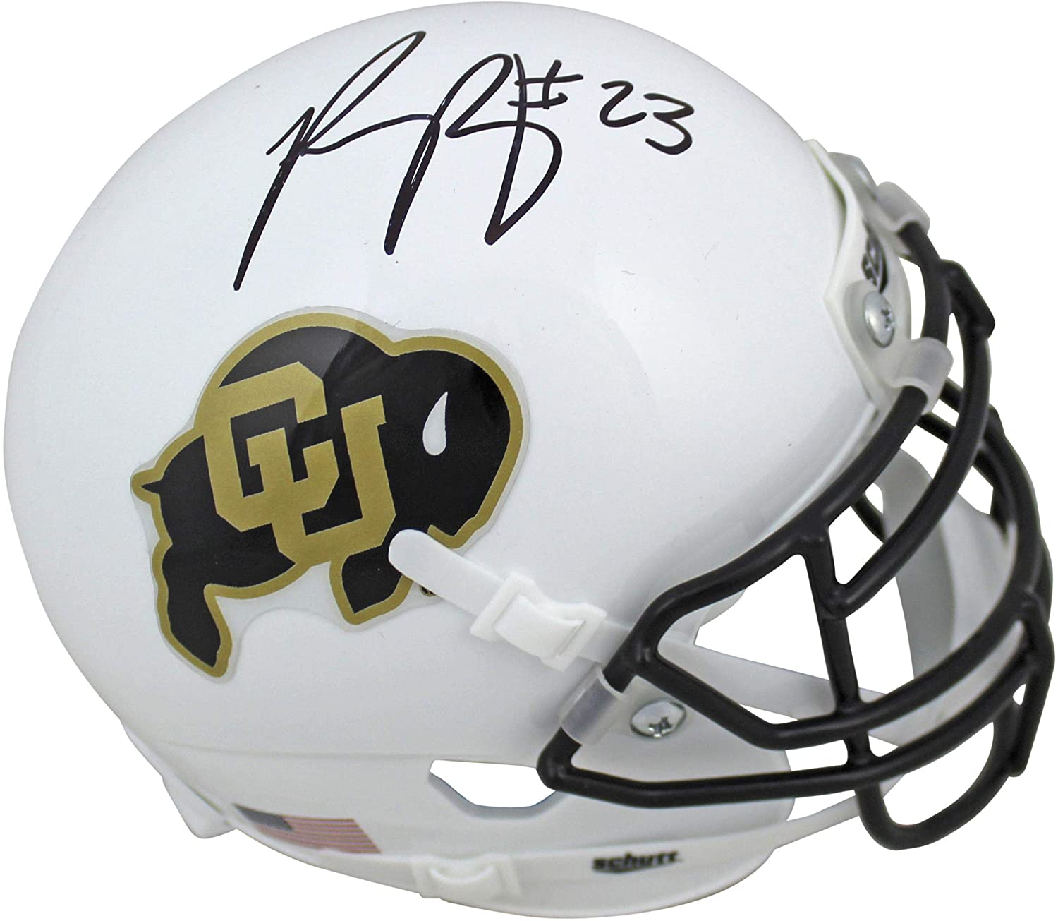 Colorado Phillip Lindsay Signed White Schutt Mini Helmet Witness - JSA Certified - Autographed College Mini Helmets