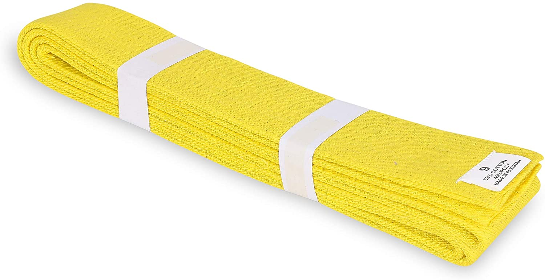 MACS Martial Arts Supplies Karate Taekwondo Belt Solid Color 1.75'' Wide for Kids/Adults