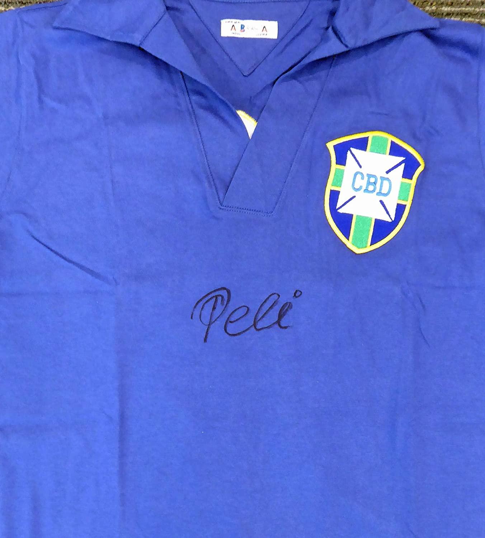 Signed Pele Jersey - CBD Blue Athleta Short Sleeve Beckett BAS Stock #161445 - Beckett Authentication