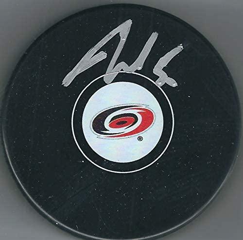 Autographed Jake Gardiner Carolina Hurricanes Hockey Puck