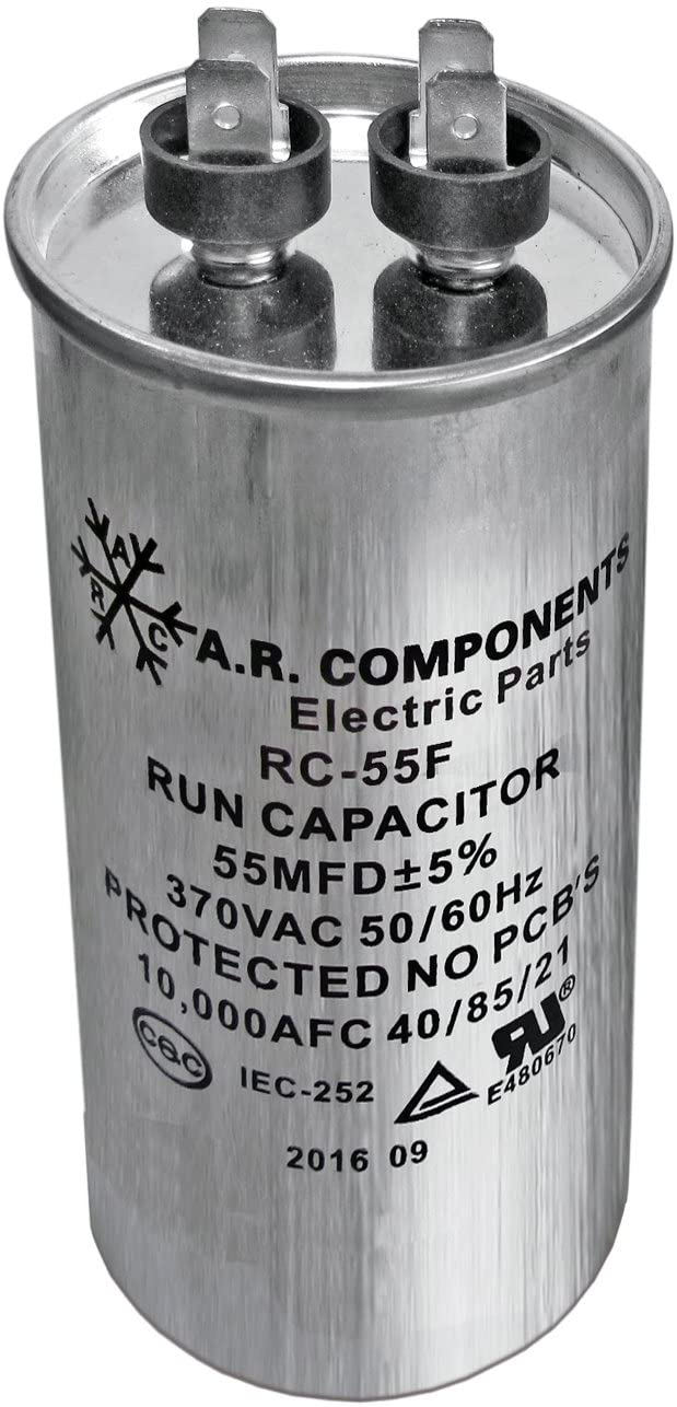 RUN CAPACITOR 55 MFD 440 VAC ROUND CAN. UL Certified. Pack of (1)