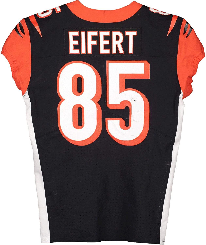 Tyler Eifert Cincinnati Bengals Game-Used #85 Black Jersey vs. Buffalo Bills on September 22, 2019 - Fanatics Authentic Certified