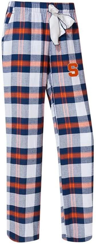 Concepts Sport Syracuse University Women's Flannel Pajamas Plaid PJ Bottoms