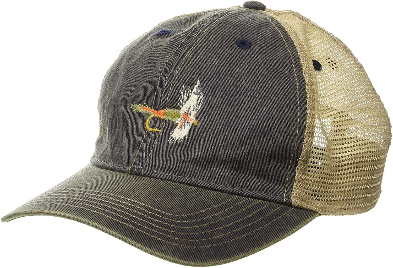 Cowbucker Adam's Fish Lure Micro Logo Vintage Trucker Hat, Adjustable Snapback Meshback Cap
