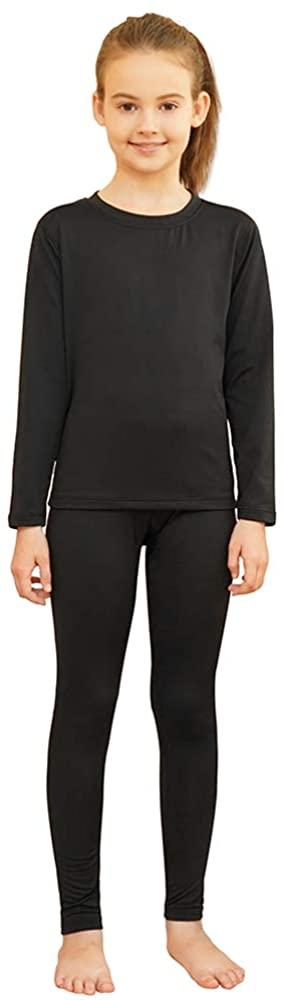 HEROBIKER Girls Ultra Soft Lined Thermal Underwear Kids Long Johns Top Bottom Set for Winter Skiing Warm