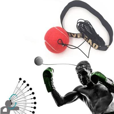 jinbaolin Boxing Reflex Fight Ball ,Great for Improving Reactions, Punching, Hand Speed and Agility, Headband Fits All, Perfect for Boxing, Training and Fitness, Premium Gym Boxing Equipment