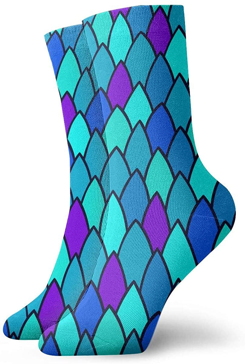 Field Rain Mermaid Scales Unisex Casual Stockings Sport Athletic Crew Socks