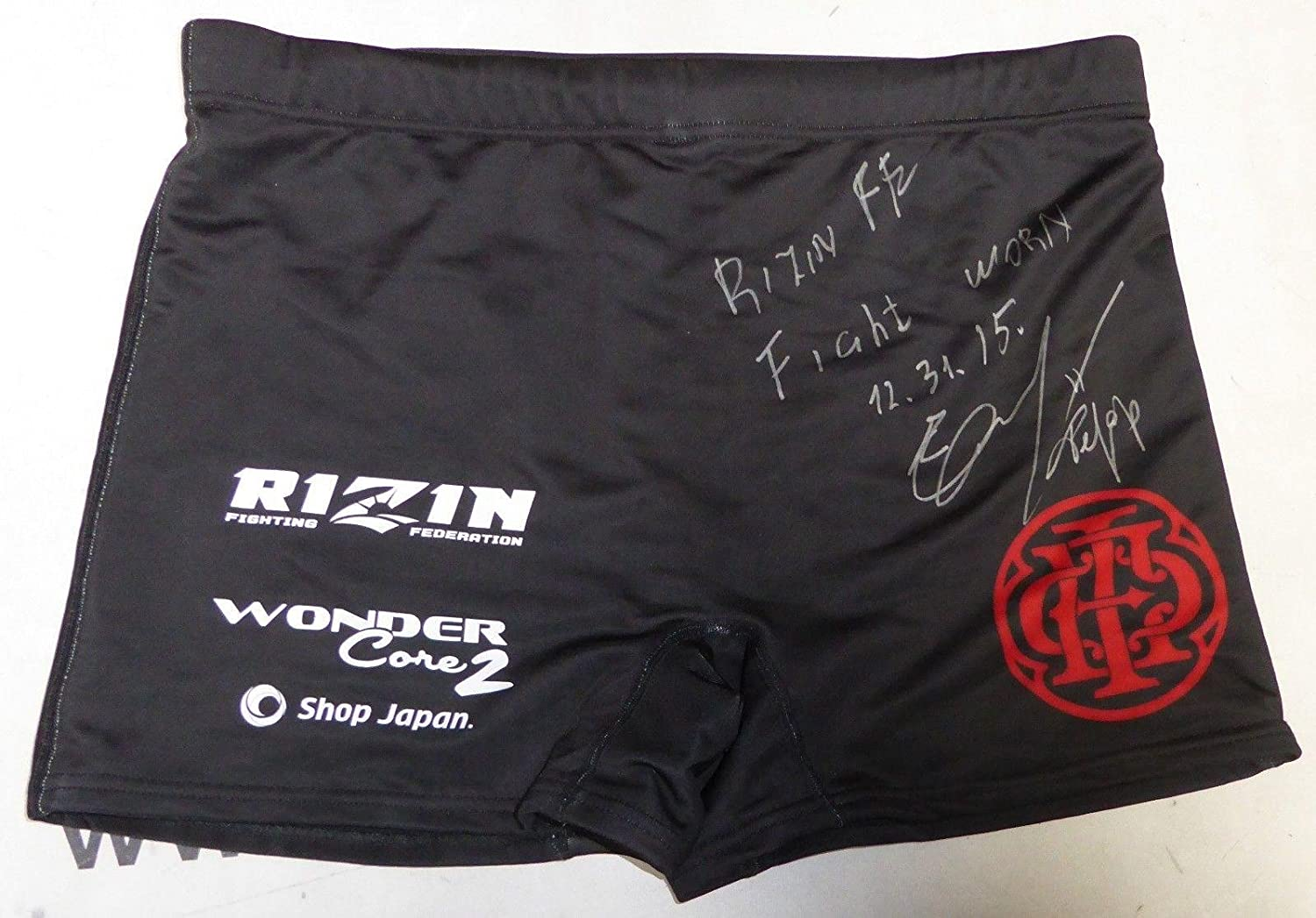 Fedor Emelianenko Signed Rizin 12/31/2015 Fight Worn Used Shorts Trunks - PSA/DNA Certified - Autographed UFC Jerseys and Trunks