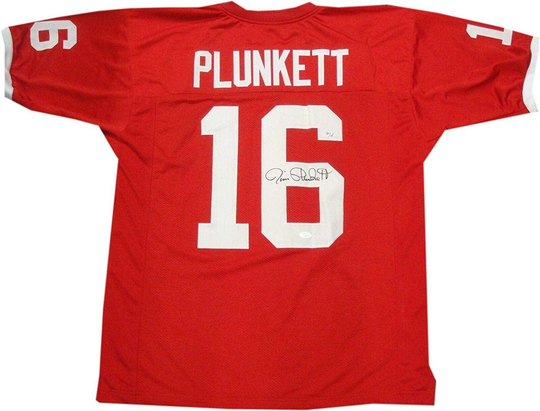Jim Plunkett Autographed Jersey - #16 Stanford School S71653 - JSA Certified - Autographed NFL Jerseys