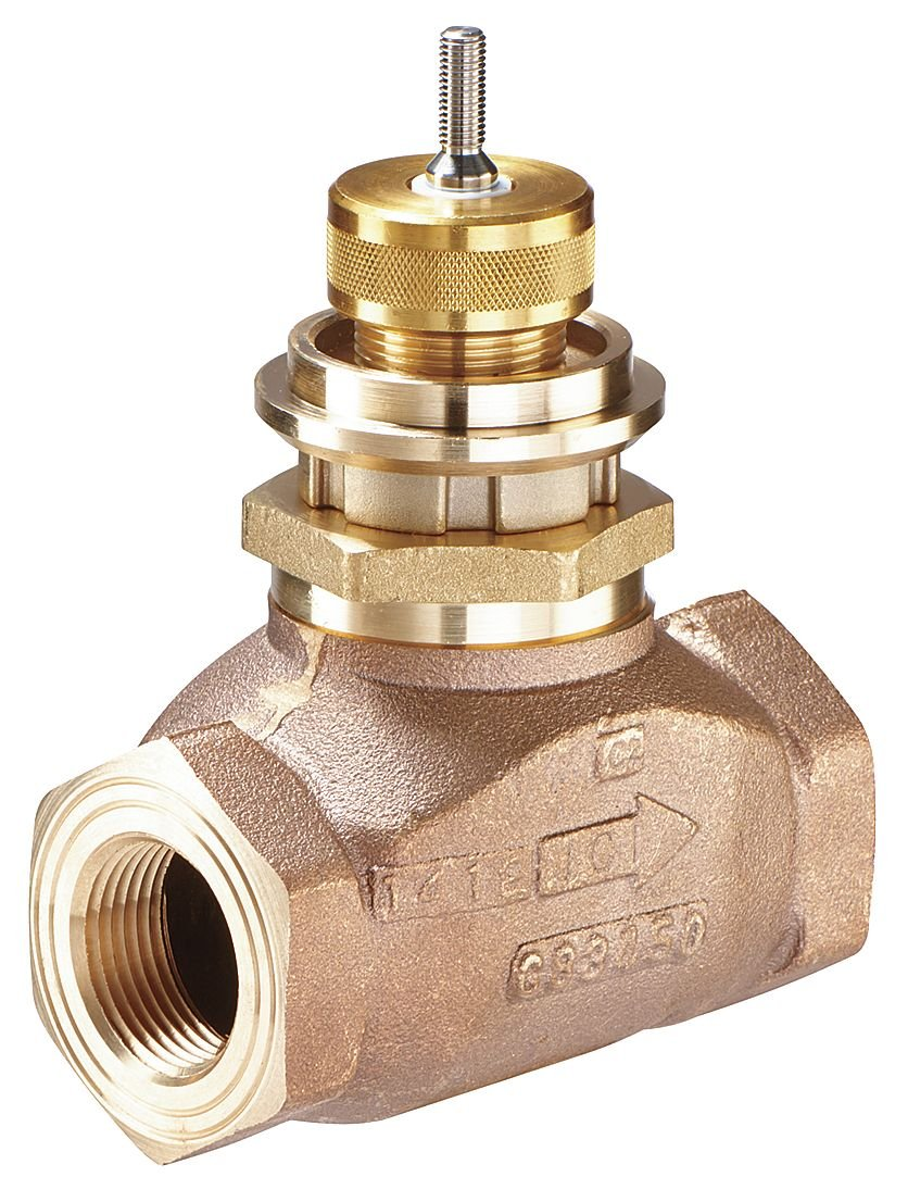 Johnson Controls VG7443RT Series VG7000 Bronze Globe Valve, Two-Way Push-Down-to-Open, Stainless Steel Trim, NPT End Connection, 1-1/2