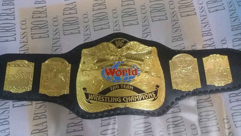 New Replica WWF Tag team Championship Belt Adult Size Metal Plates
