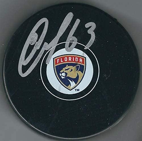 Evgenii Dadonov Autographed Puck - Autographed NHL Pucks