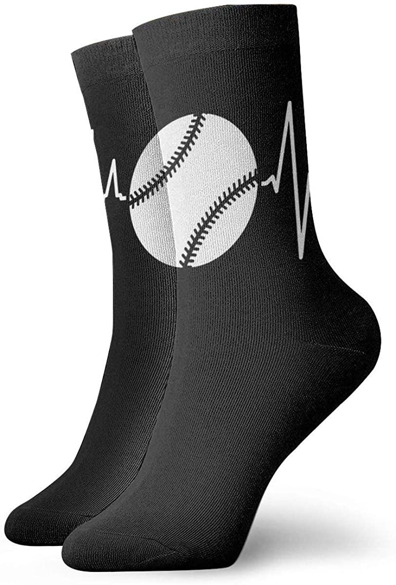 Baseball Heartbeat Performance Sock Athletic Crew Short Socks Outdoor Socks